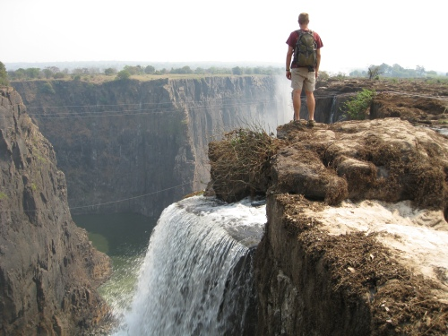 Benjamin, on the edge of Victoria Falls