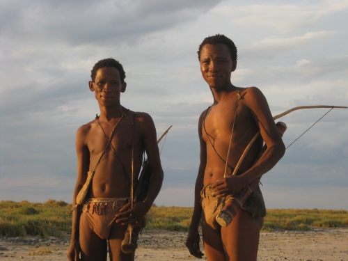 The San tribe of northeastern Namibia